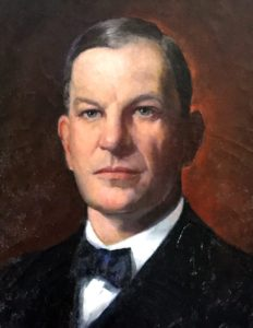 Detail from a portrait of Chief Justice Walter Parker Stacy.